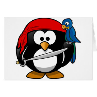 Piraten-Pinguin Karte