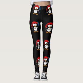Piraten-Pinguin mit einer roten Bandanna und einem Leggings