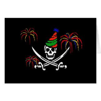 Piraten-Piratenflagge-glückliches neues Jahr-Karte Karte