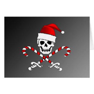 Piraten-Piratenflagge-Sankt-Weihnachtskarte Karte