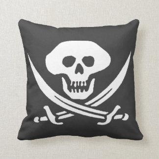 Piraten-Piratenflagge-Schädel Kissen