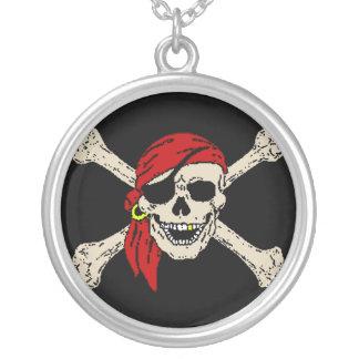 Piraten-Piratenflagge Versilberte Kette