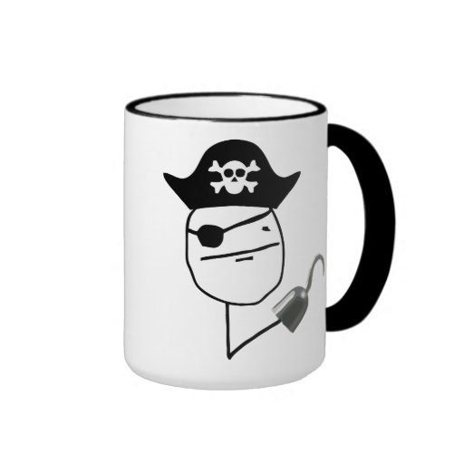 Piraten-Poker-Gesicht Meme Tasse