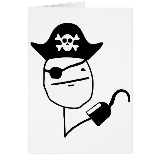 Piraten-Pokergesicht - meme Karten