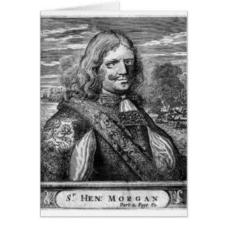 Piraten-Porträt Henrys Morgan Karte
