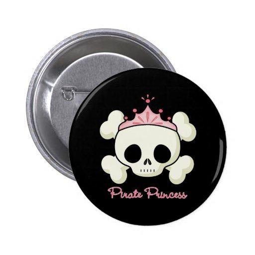 Piraten-Prinzessin Anstecknadelbuttons