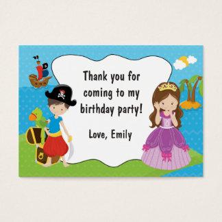 Piraten-Prinzessin Gift Favor Label Thank Sie Visitenkarte