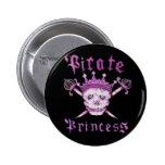 Piraten-Prinzessinknopf Button