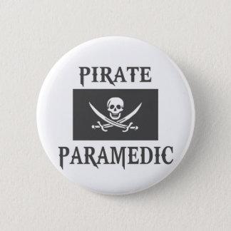Piraten-Sanitäter Runder Button 5,1 Cm