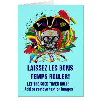 Piraten-Schablonen-Karneval Karte