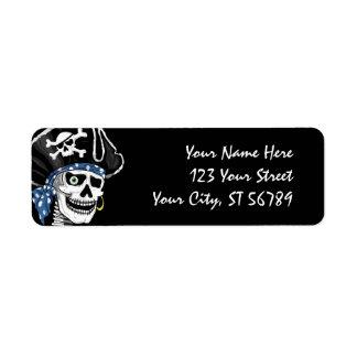 Piraten-Schädel-Adressen-Etikett