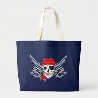 Piraten-Schädel Jumbo Stoffbeutel
