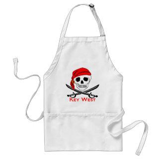 Piraten-Schädel Key West Schürze