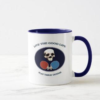 Piraten-Schädel-Leben-Tischtennis Tasse