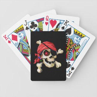 Piraten-Schädel-Plattform Bicycle Spielkarten