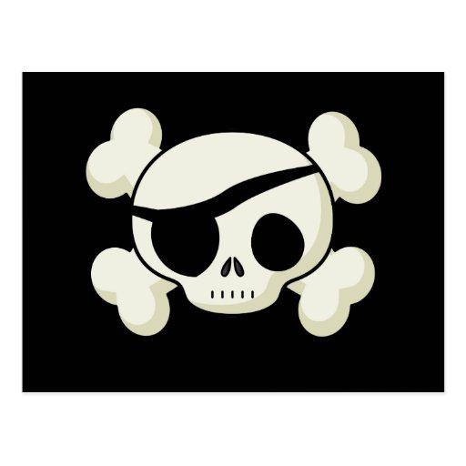 Piraten-Schädel Postkarte
