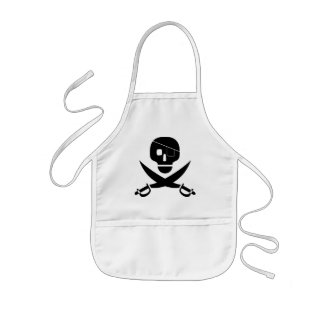 Piraten-Schädel-Schürze für Kinder Kinderschürze
