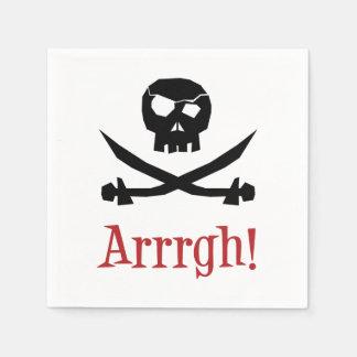Piraten-Schädel Serviette