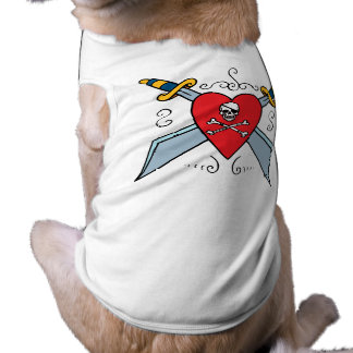 Piraten-Schädel-Tätowierung T-Shirt