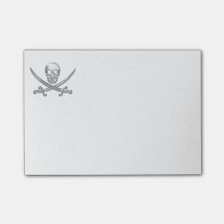 Piraten-Schädel-u. Klinge-gekreuzte Knochen Post-it Klebezettel