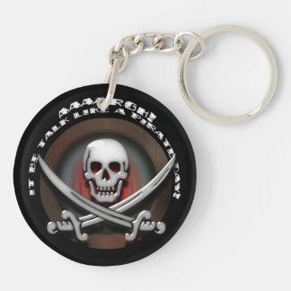 Piraten-Schädel-u. Klinge-gekreuzte Knochen - Schlüsselanhänger