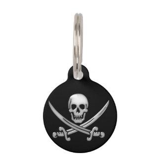 Piraten-Schädel-u. Klinge-gekreuzte Knochen Tiermarke