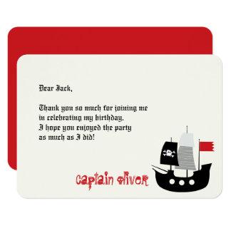 Piraten-Schädel-u. Schiffs-Kindergeburtstag danken 8,9 X 12,7 Cm Einladungskarte