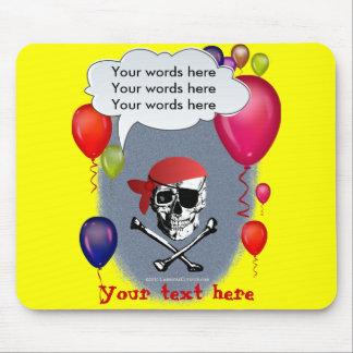 Piraten-Schädel- und Knochen-Party Mauspads