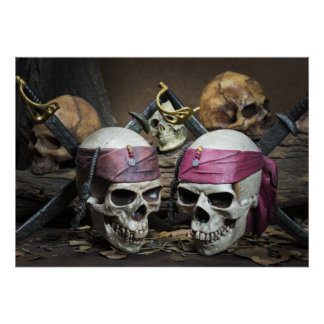 Piraten-Schädelplakat Poster