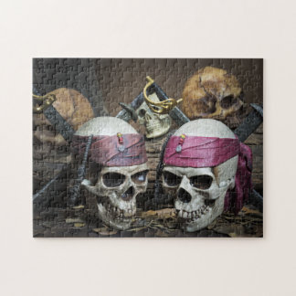 Piraten-Schädelpuzzlespiel Puzzle