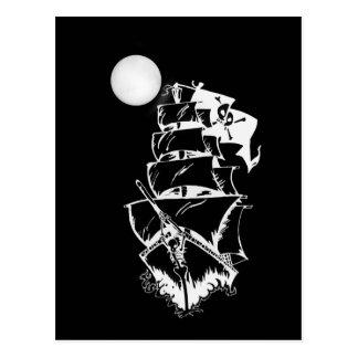 Piraten-Schiff auf hoher See Postkarte