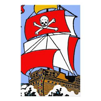 Piraten-Schiff Briefpapier