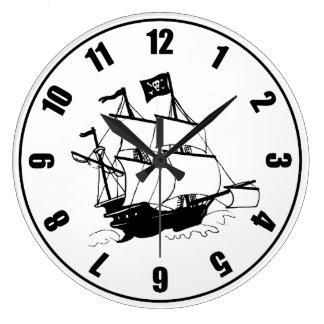 Piraten-Schiff Große Wanduhr