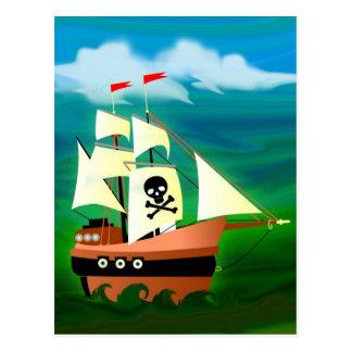 Piraten-Schiff Postkarte