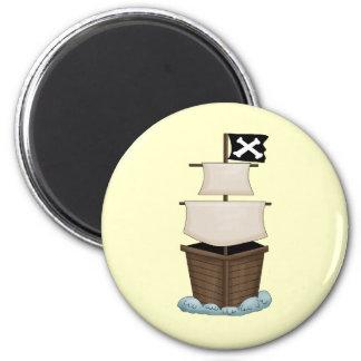 Piraten-Schiff Runder Magnet 5,1 Cm