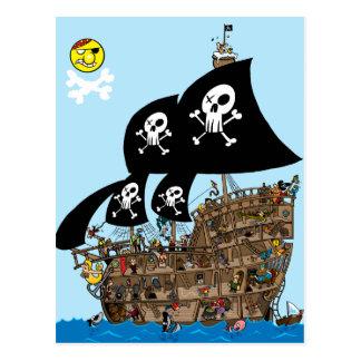 Piraten-Schiffs-Entweichen Postkarte