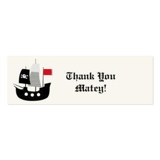 Piraten-Schiffs-Kindergeburtstag-Gastgeschenk-Gesc Visitenkarten Vorlagen