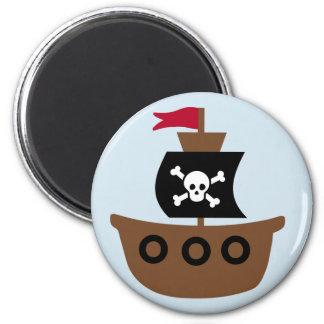 Piraten-Schiffs-Magnet Runder Magnet 5,7 Cm