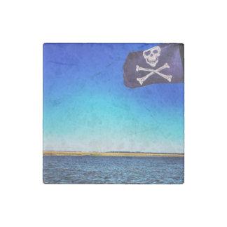 Piraten-Schiffs-Marmor-Magnet Stein-Magnet