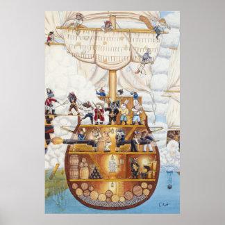 Piraten-Schiffs-Plakat/Druck Poster
