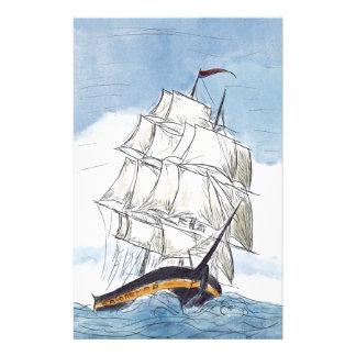 Piraten-Schiffs-Porträt-Geschenk Briefpapier