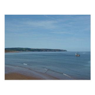 Piraten-Schiffs-Segeln über Whitby Bucht, Postkarte