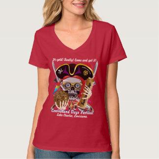 Piraten-Schmuggeltagesalle frauen redet Dunkelheit T-Shirt
