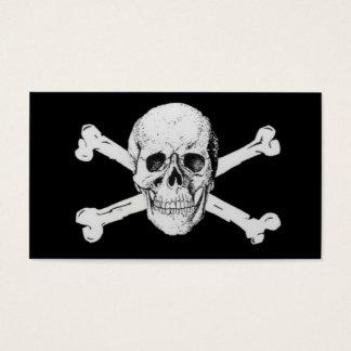 Piraten-schwarzer Totenkopf mit gekreuzter Knochen Visitenkarte