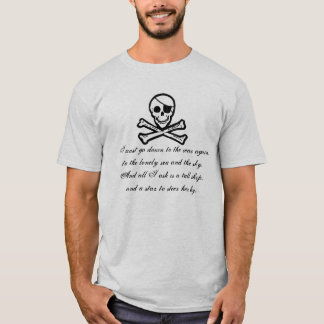 Piraten-Seepoesie-Piratenflagge-T - Shirt