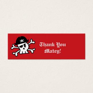 Piraten-Skeleton Mini Visitenkarte