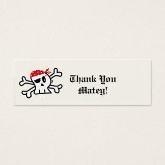 Piraten-Skeleton Mini-Visitenkarten