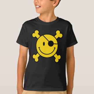 Piraten-smiley scherzt T - Shirt