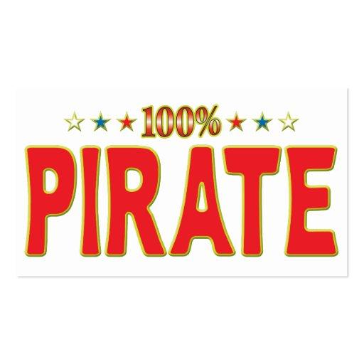 Piraten-Stern-Umbau Visitenkarten Vorlage