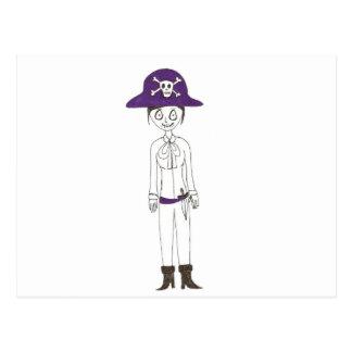 Piraten-Stichmädchen Postkarte